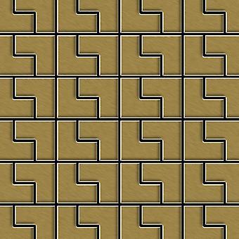 Metal mosaic Titanium ALLOY Kink-Ti-GB