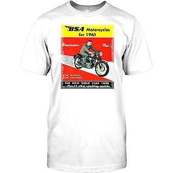 BSA motorfietsen voor 1963 - klassieke Britse fiets Mens T Shirt