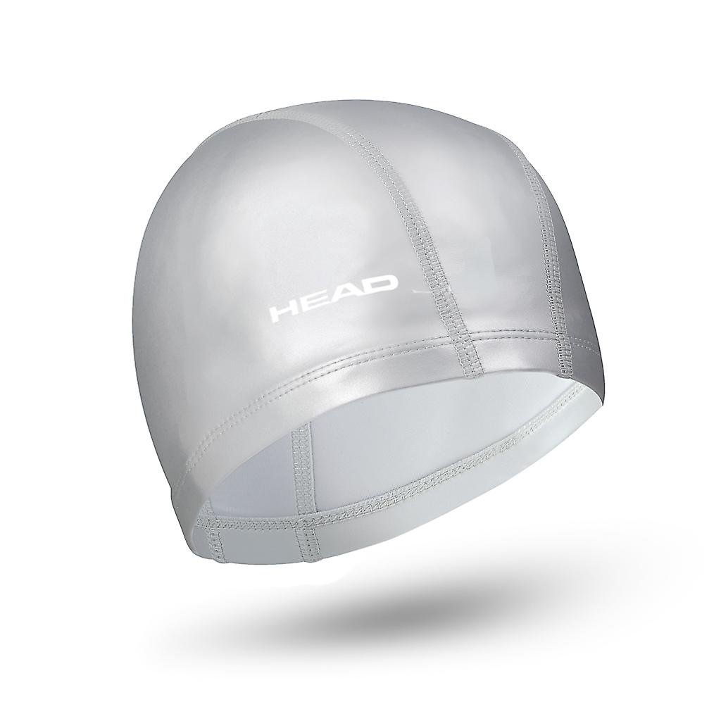 Head Nylon/Lycra PU Coating Swim Cap - Silver