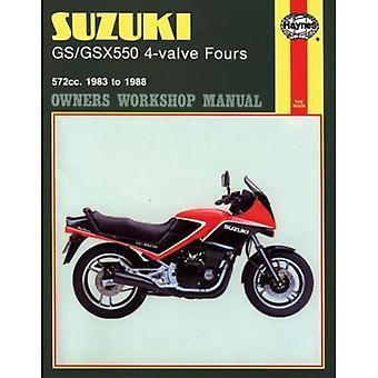 Suzuki GS/GSX550 4-valve Fours 572cc 1983-88 Owner's Workshop Manual (Motorcycle Manuals)
