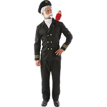 Orion Costumes Mens Captain Birdseye Navy Sailor Uniform Fancy Dress Costume