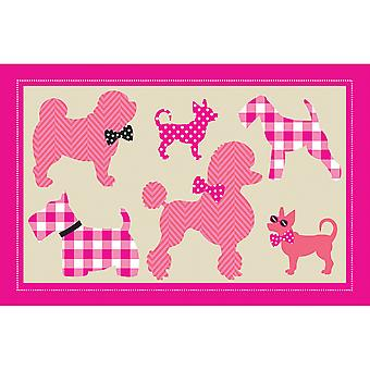 Country Club Kids Mat, Poodles