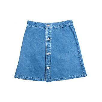 Santa Cruz Light Denim Screaming Hand Womens Skirt