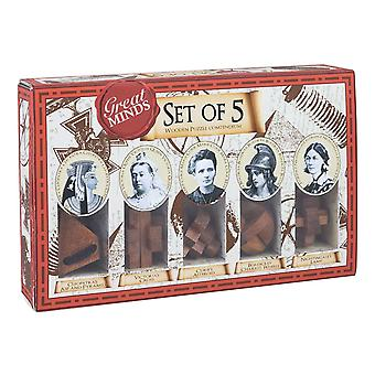 Professor Puzzle Great Minds - Set of 5 Puzzles - Female