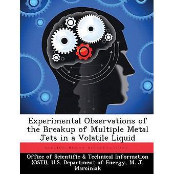 Experimentelle Beobachtungen von der Auflösung von mehreren Metall-Jets in eine flüchtige Flüssigkeit vom Amt der wissenschaftlichen & technische Informa