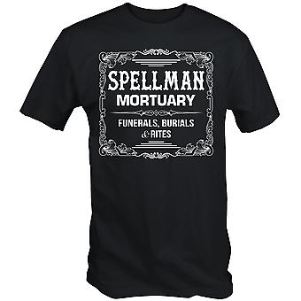 Spellman mortuary t shirt adventure chilling of sabrina tv witch