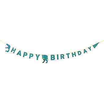 Happy Birthday Party Dinosaurier Girlande 3,5 m