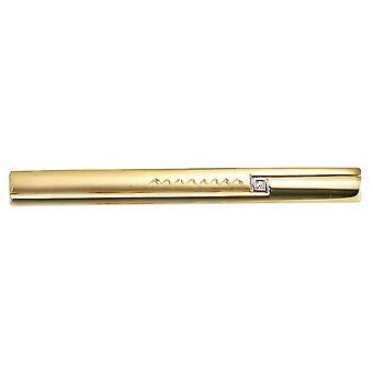 Tie slide 333/g tie noble, noble gold men's jewellery men gift