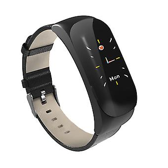 Bluetooth vernetztes Android und iOS Touch Screen Cardio Watch + Headset-Black