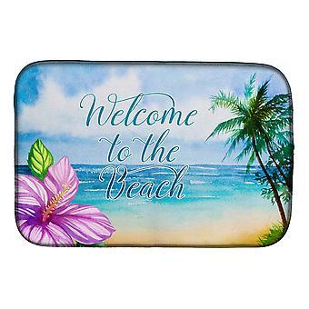 Carolines trésors BB8530DDM Beach Scene Bienvenue plat Mat de séchage