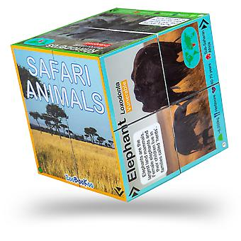 ZooBooKoo Educational Safari Animals Cubebook - Fold-Out Cube