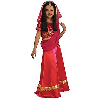 Bollywood de Little Princess Indische India hindoe Sari boek Week meisjes kostuum