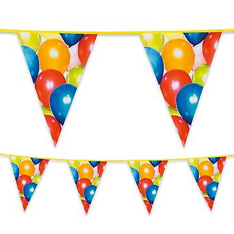 6 Metre Plastic Bunting Colourful Balloons