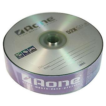 Aone 25 Pack Logo Surface CDR CD-R Blank Discs 700mb 80mins 52x Music Data