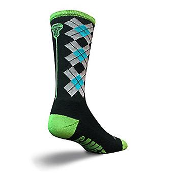 Chaussettes - SockGuy - Lacrosse Padded LAX Check Sticks Black L/XL Cycling/Running