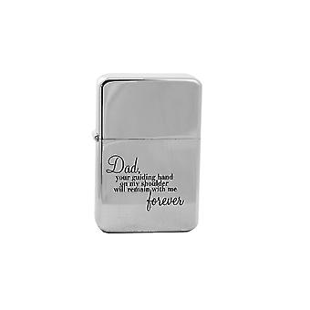 Lighter - dad your guiding hand high polish chrome l1