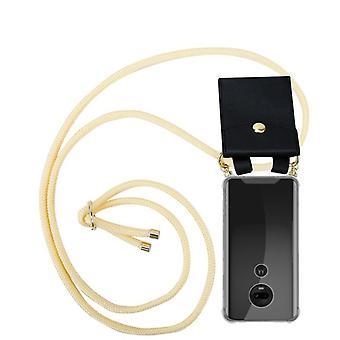 Cadorabo Handykette Hülle für Motorola MOTO G7 Case Cover - Necklace Umhänge Hülle aus Silikon mit Kordel Band Schnur und abnehmbarem Etui – Schutzhülle Case Cover