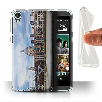 STUFF4 Gel/TPU Case/Cover für HTC Desire 820q Dual/St Pauls Kathedrale/London-Standorte