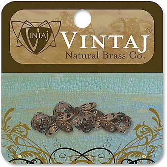 Vintaj Metal Bead Caps 10 Pkg Filigree 7Mm Bc10r