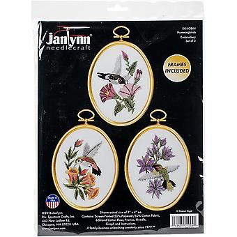 Hummingbirds Embroidery Kit Set Of 3-3