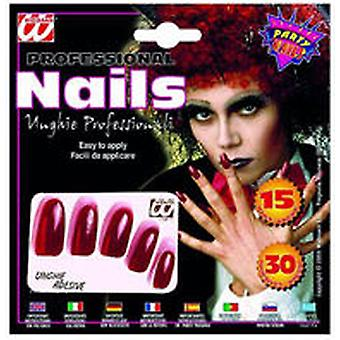 Widmann 15 Long Nails Rojas (Kids , Toys , Imitation , Jewelry, Makeup And Accessories)