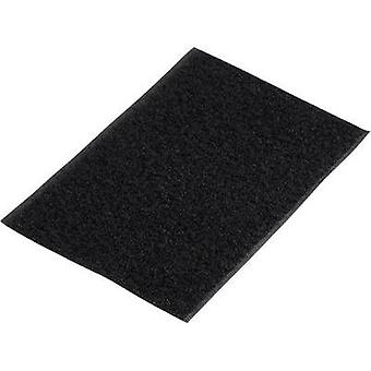 Hook-and-loop tape stick-on Hook pad (L x W) 500 mm x 100 mm Black Basetech 98001c375 1 pc(s)