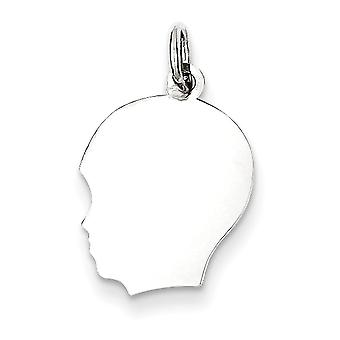 Charm in argento Sterling ragazzo Engraveable disco