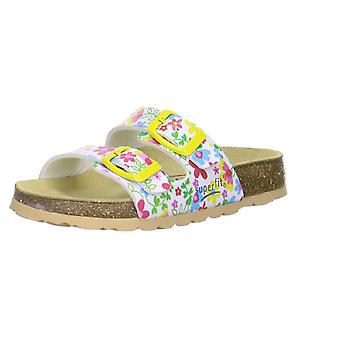 Superfit Girls Tecno 111-52 Sandals White Flower Print