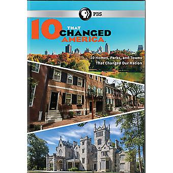 10 that Changed America [DVD] USA importeren