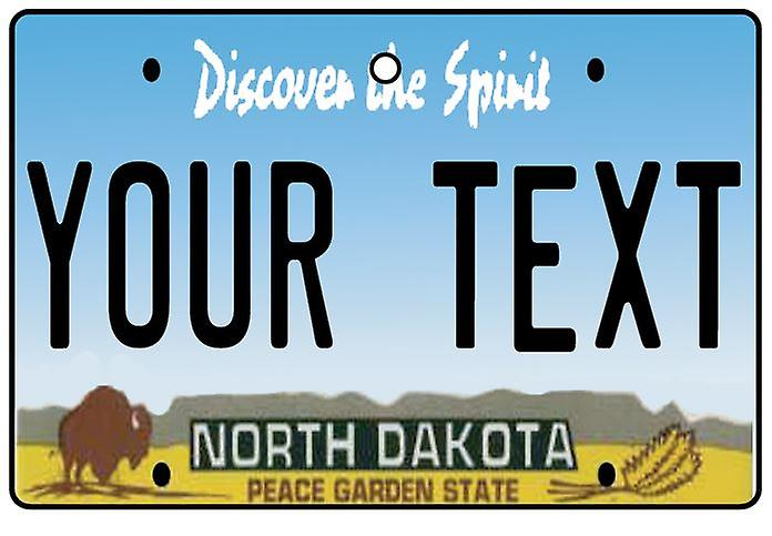 Personalised North Dakota Numberplate Car Air Freshener
