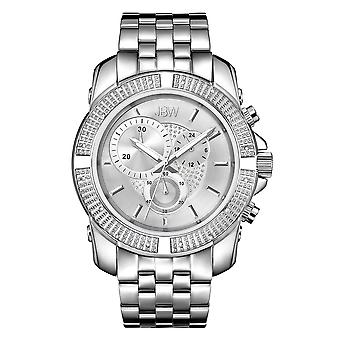 JBW diamond men's stainless steel watch WARREN - silver