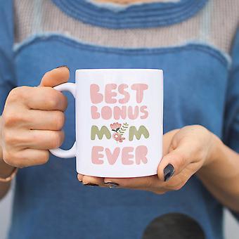 Beste Bonus Mama je Blume Tassen Mütter Tag Geschenke für Stiefmutter oder Patin