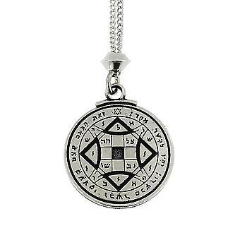 Handgemaakte Tetragramsmaton bereiken liefde Talisman Venus 4e Pentacle Pewter hanger ~ 36 inch zwart snoer