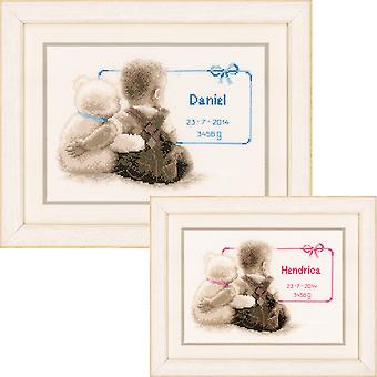 My Favorite Teddy On Aida Counted Cross Stitch Kit-9.5