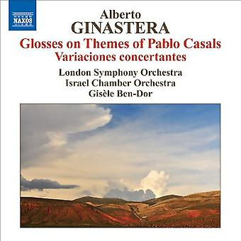 A. Ginastera - Ginastera: Glosser på temaer af Pablo Casals; Variaciones Concertantes [CD] USA importerer