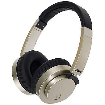 Groov-e Fusion Wired or Wireless Bluetooth Headphones - Gold (GVBT400GD)