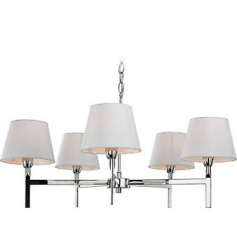 Firstlight Modern Polished Chrome Ceiling Chandelier Light