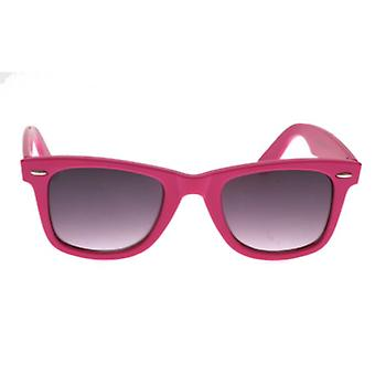 W.A.T Bright Pink Graduated Retro Wayfarer Sunglasses