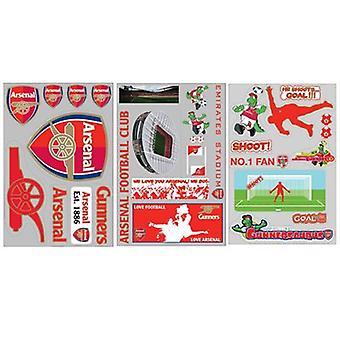 Arsenal FC Football officiel autocollants Sticker autocollant borde amovible