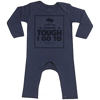 Spoilt Rotten When Going Get's Tough I Go To My Auntys Navy Baby Footless Romper
