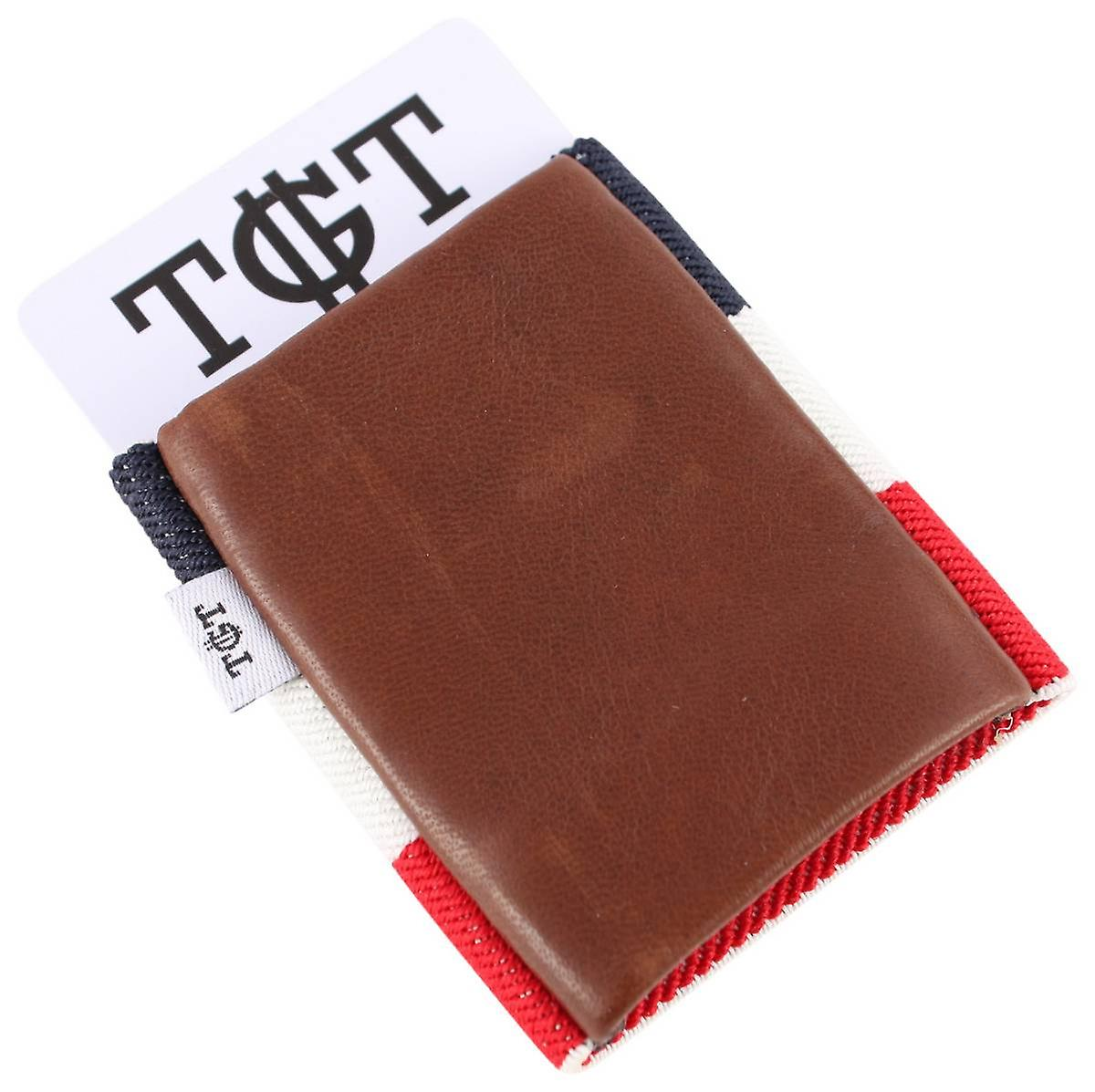 TGT Tight Wallets Americana 2.0 Elastic Card Holder - Brown/Multi-colour