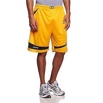 SPALDING basketball logo training shorts [yellow]