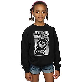 Star Wars Girls The Last Jedi Frame Metallic Sweatshirt