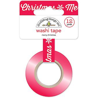 Here Comes Santa Claus Washi Tape 15mmX12yd-Merry Christmas HCSC5330