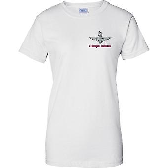 Licensierad MOD - Utrinque Paratus - Parachute Regiment logotyp--damer bröst Design T-Shirt