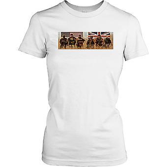 Dames t-shirt DTG Print - VS en UK Special Forces SAS en Delta-