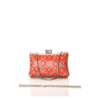The Fashion Bible Small Roses Vintage Print Box Clutch In Pink