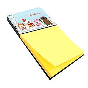 Merry Christmas Carolers Bullmastiff Sticky Note Holder