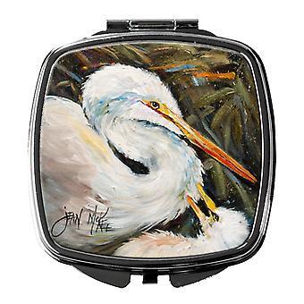 Carolines Treasures  JMK1227SCM White Egret Compact Mirror