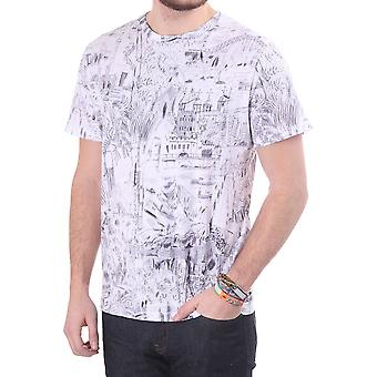 PS Paul Smith Crew Neck Top In Cotton With City Print Design